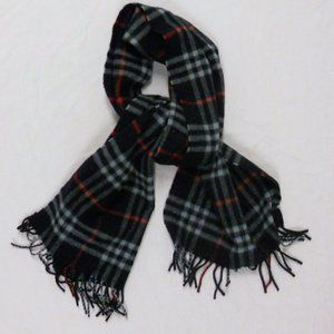 Burberry London Cashmere Check Scarf Mens Vintage